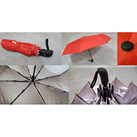 Auto Open and Close 3 Folded Umbrella
